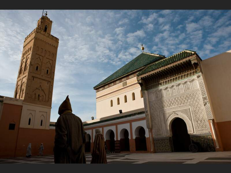 La zaouïa de Sidi Bel Abbès, située dans la médina de Marrakech, au Maroc.