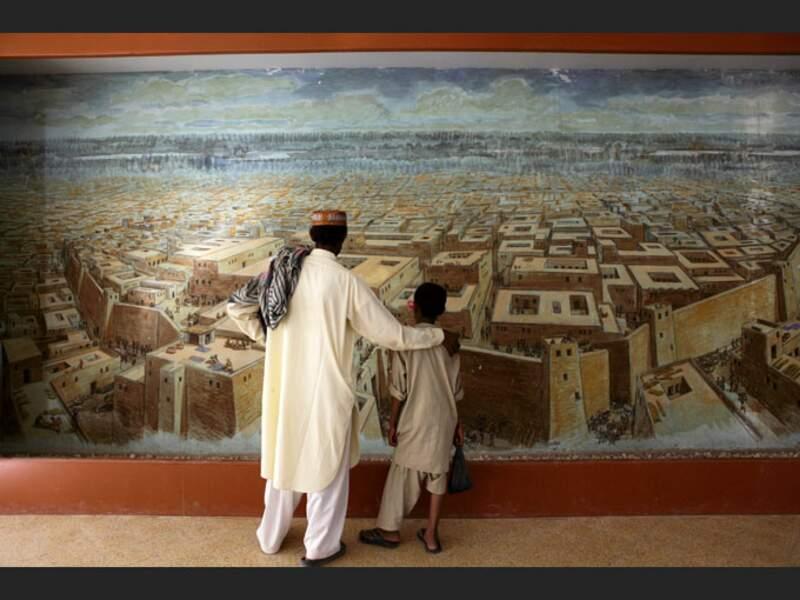 Fresque du Musée historique de Mohenjo-Daro, au Pakistan