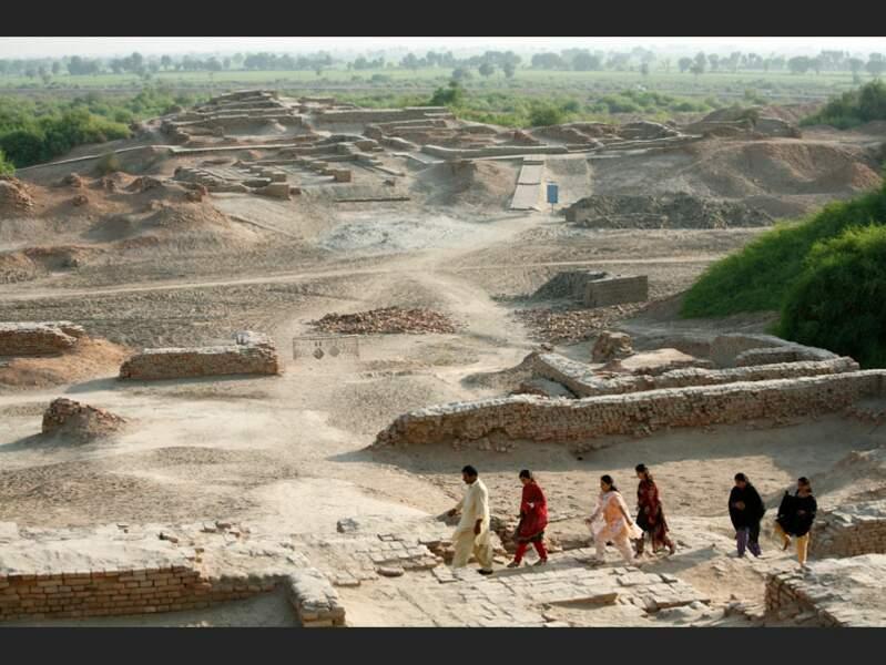 La ville basse du site de Mohenjo-Daro, au Pakistan