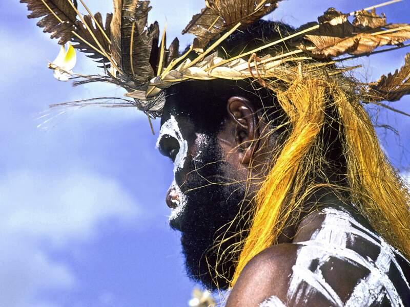Danseur kanak de l'île des Pins, en Nouvelle-Calédonie.
