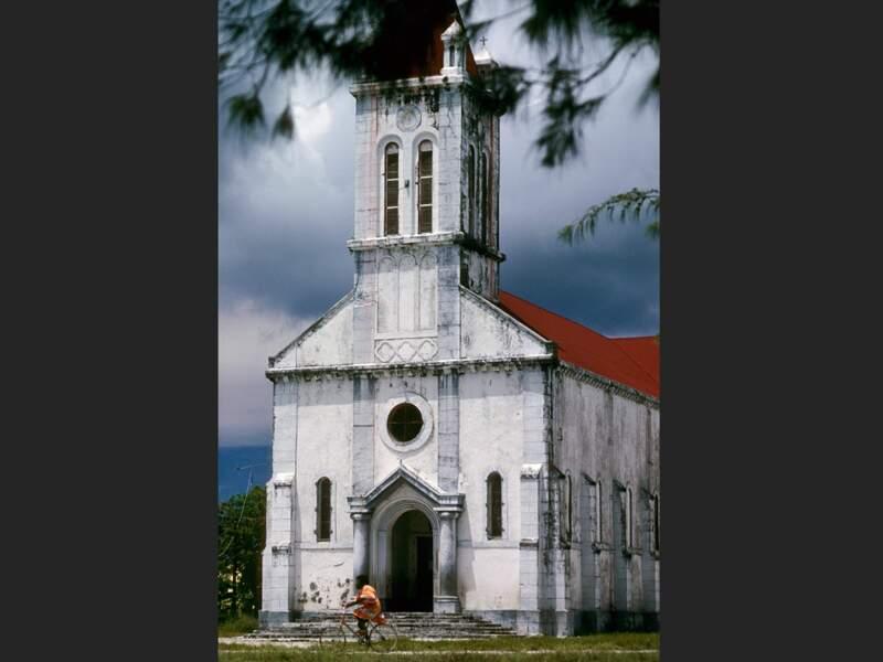 Une église d'Ouvéa, en Nouvelle-Calédonie.