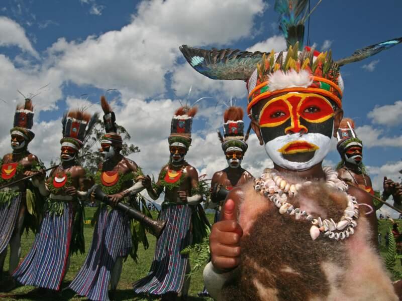 Enfant Kunga à Mount Hagen, Papouasie-Nouvelle-Guinée