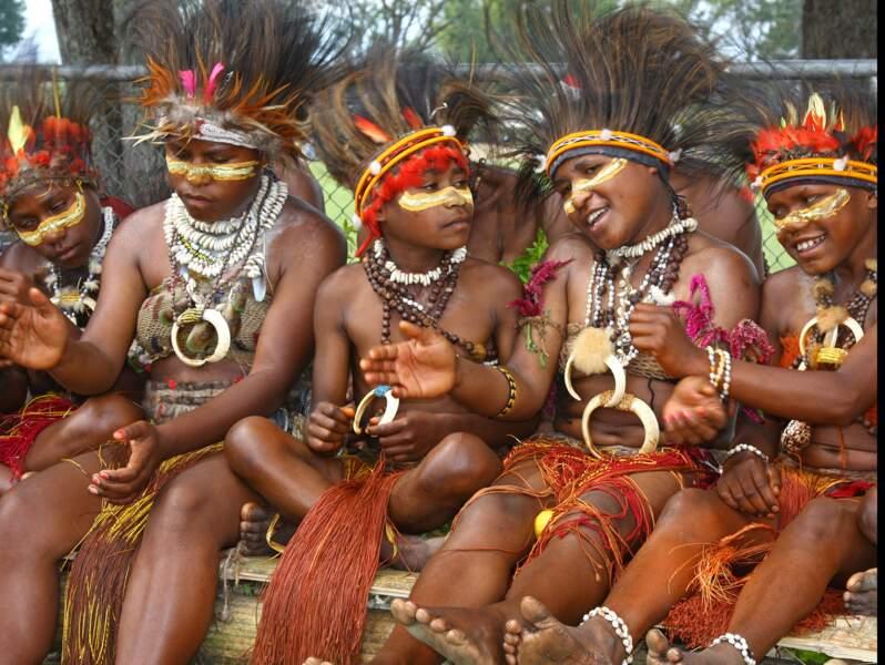 Enfants Tainim Het à Goroka, Papouasie-Nouvelle-Guinée