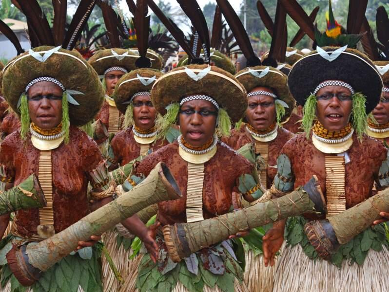 Femmes Silimuli à Goroka, Papouasie-Nouvelle-Guinée