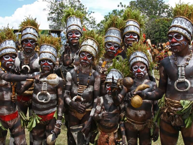 Papous à Goroka, Papouasie-Nouvelle-Guinée