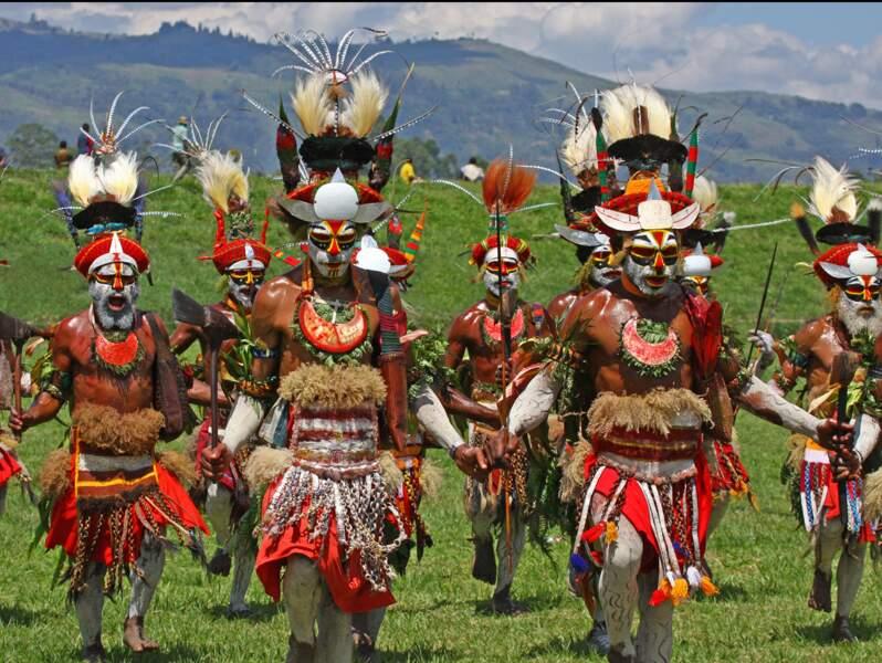 Marche de Papous, à Mount Hagen, Papouasie-NouvelleGuinée