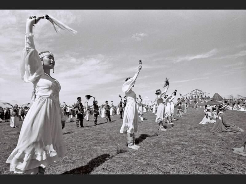 La fête d'Yssyakh est la plus grande célébration traditionnelle iakoute (République de Sakha, Sibérie, Russie).