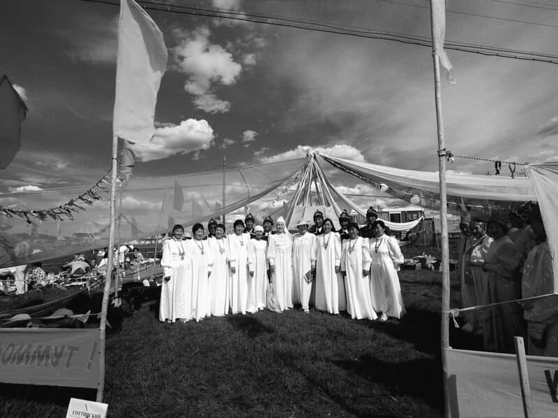 Autrefois la fête d'Yssyakh jouait un rôle social important et permettait aux clans nomades de se réunir (République de Sakha, Sibérie, Russie).