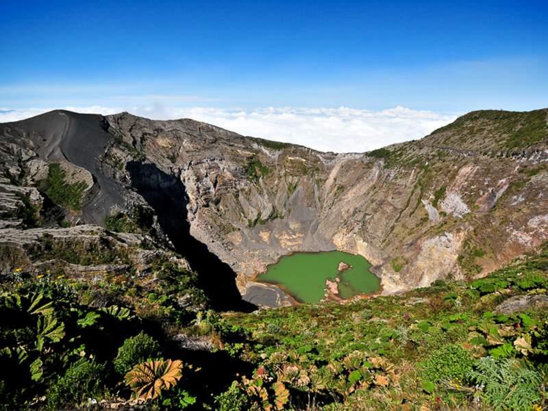 Le lac émeraude du volcan Irazú, au Costa Rica