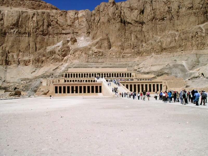 Le temple d'Hatchepsout, situé près de Louxor, en Egypte.