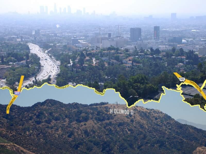 Mulholland Drive offre de beaux points de vue sur Los Angeles
