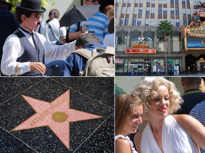 Hollywood Boulevard conserve les empreintes des plus grandes stars de cinéma