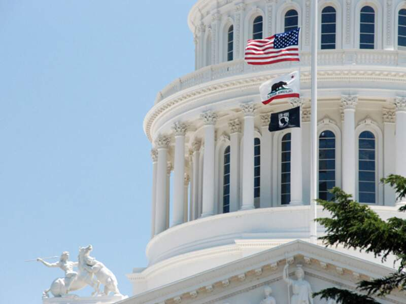 Le capitole de Sacramento abrite le bureau du Gouverneur et le Parlement de l'Etat