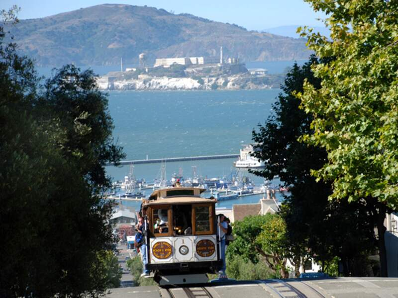 Le cable-car est l'un des symboles les plus connus de San Francisco.