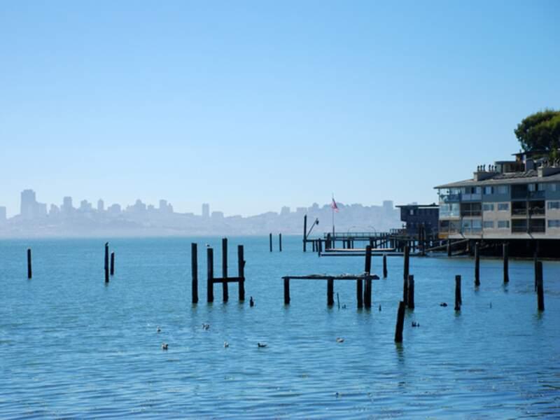 Sausalito offre une vue magnifique sur San Francisco.