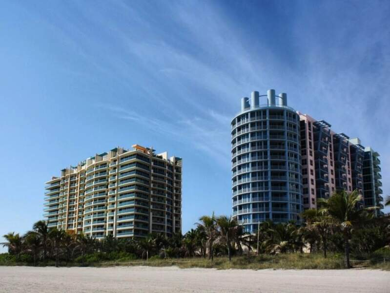 Hôtels colorés à Miami Beach, en Floride, aux Etats-Unis.