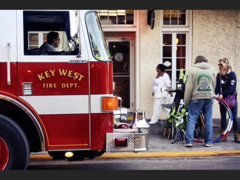 Scène de vie à Key West, au sud de la Floride, Etats-Unis.