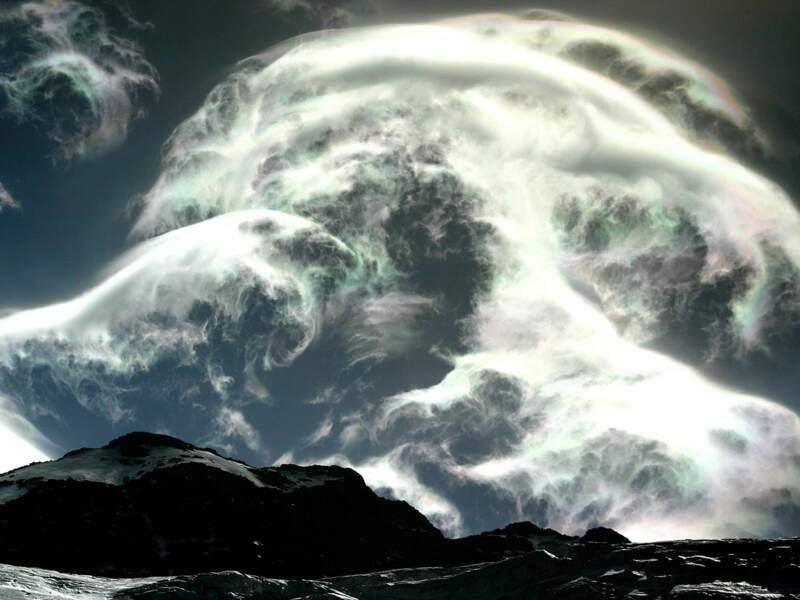 Fresque de nuages