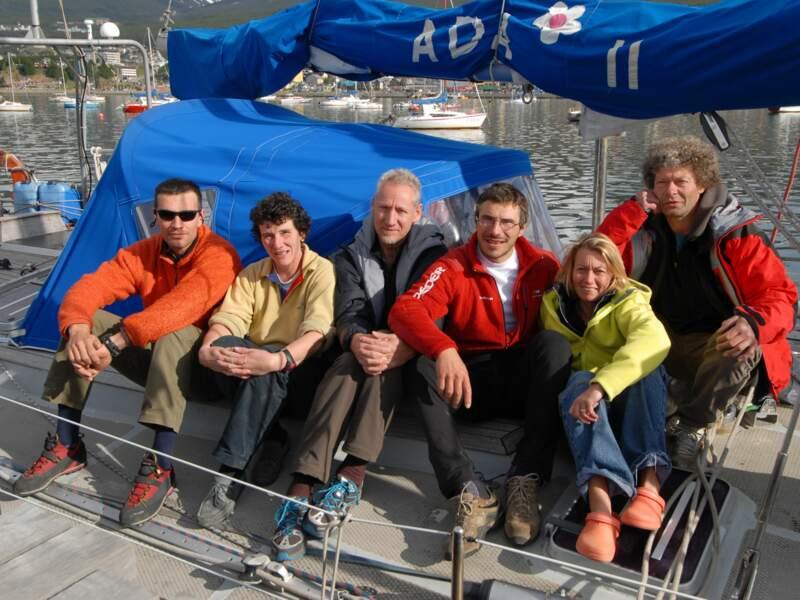 De gauche à droite, Philippe Batoux, Isabelle Autissier, Emmanuel Cauchy, Lionel Daudet, Agnès Lapeyre et Tristan Guyon.