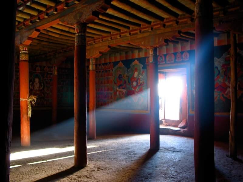 Monastère aux environs de Leh dans le nord de l'Inde