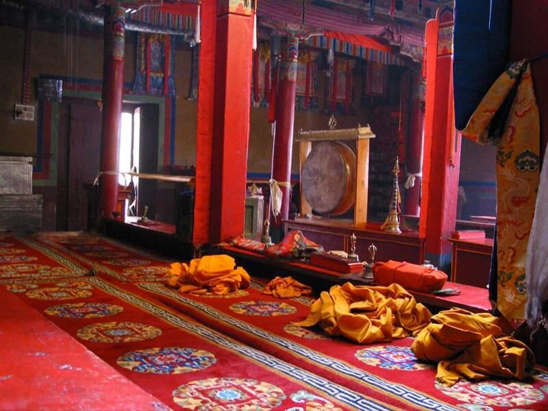 Monastère à Wanla dans la région du Zanskar, en Inde