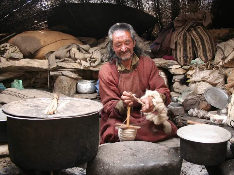 Nomade dans le Ladakh, en Inde