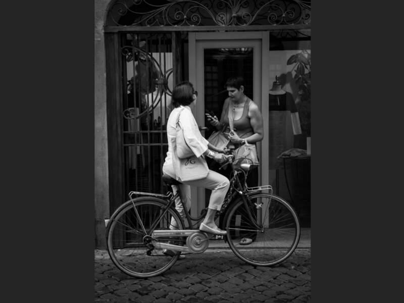 La bicyclette est un mode de transport apprécié des habitants de Rome, en Italie.