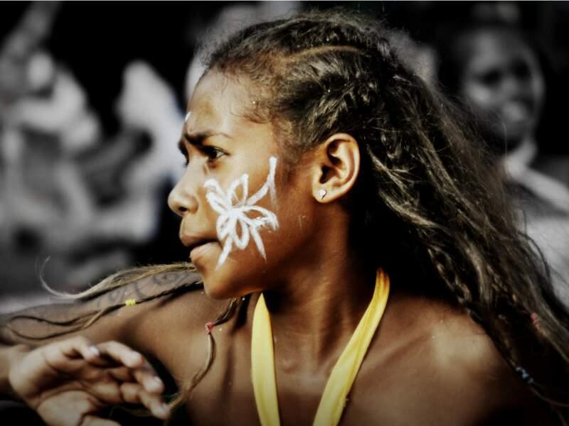Danseuse Kanak lors du Carnaval de Nouvelle-Calédonie