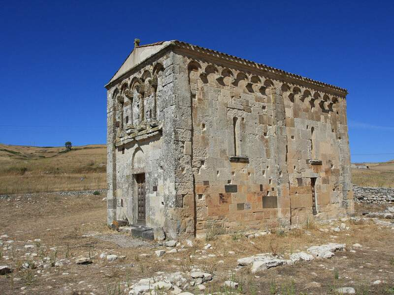 L'église de San Nicolò di Trullas, à 50 km de Sassari, en Sardaigne, en Italie.