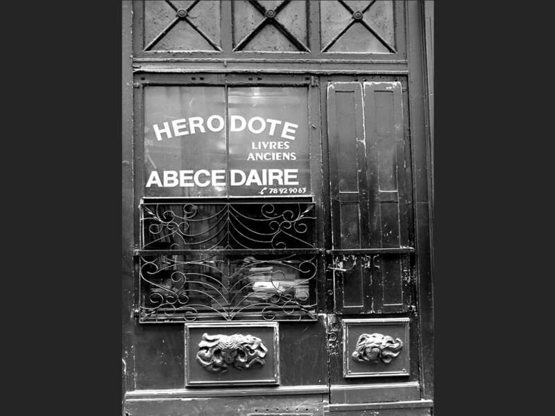 La librairie Hérodote, dans le quartier Saint-Jean, à Lyon (Rhône, Rhône-Alpes).