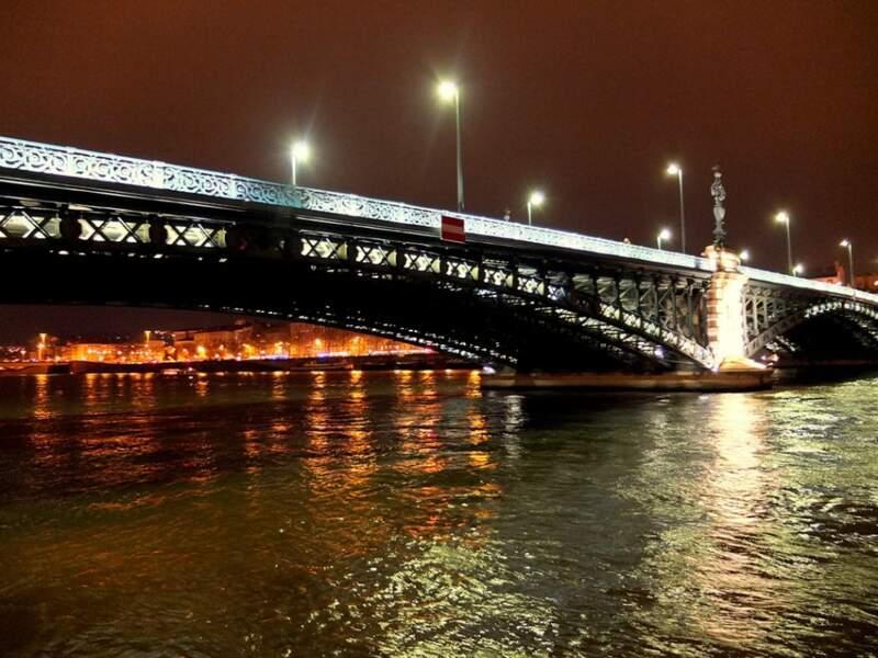 Le pont Kitchener-Marchand, à Lyon (Rhône, Rhône-Alpes).