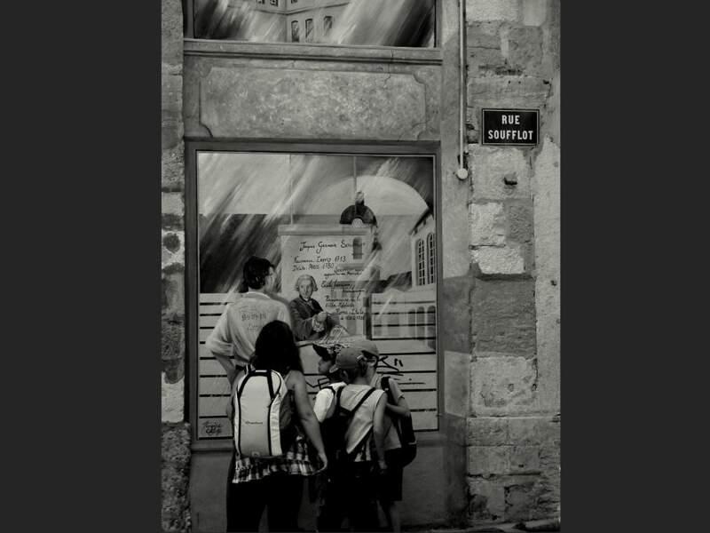 La rue Soufflot, dans le quartier Saint-Jean, à Lyon (Rhône, Rhône-Alpes).