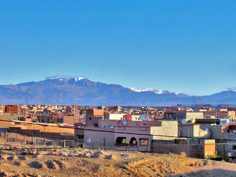 Vue sur Ouarzazate, au Maroc