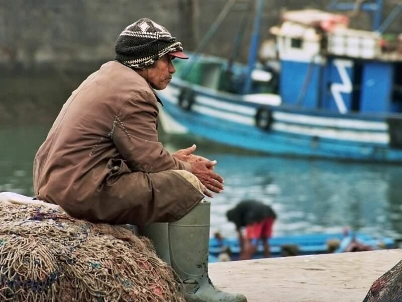 L'homme impassible du port d'Essaouira