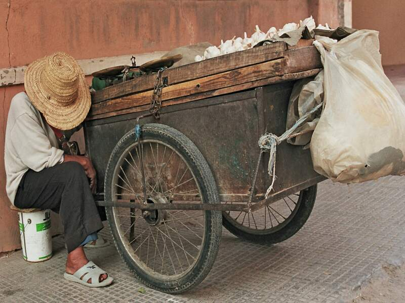 La sieste du vendeur d'ail