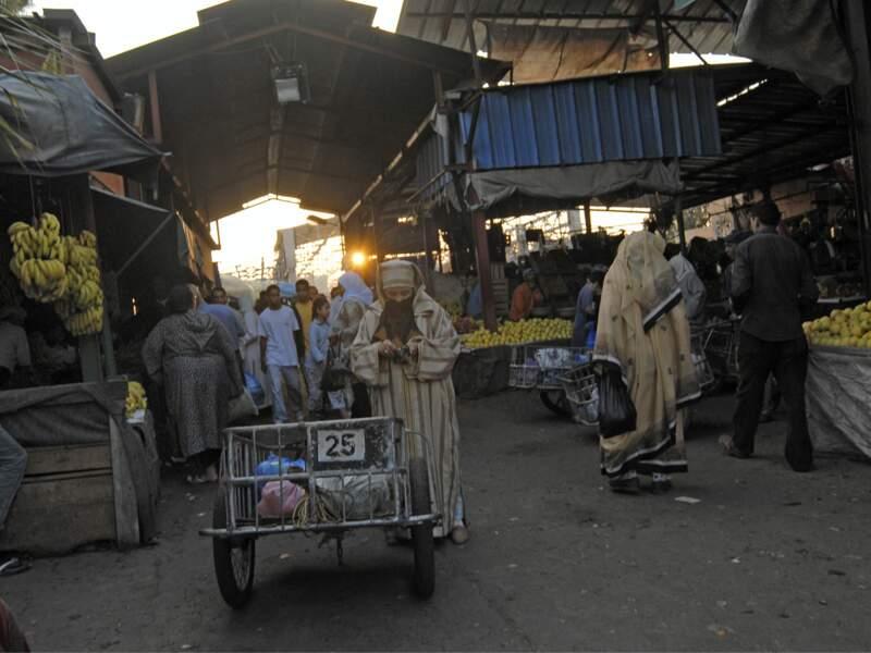 Les courses au souk d'Agadir