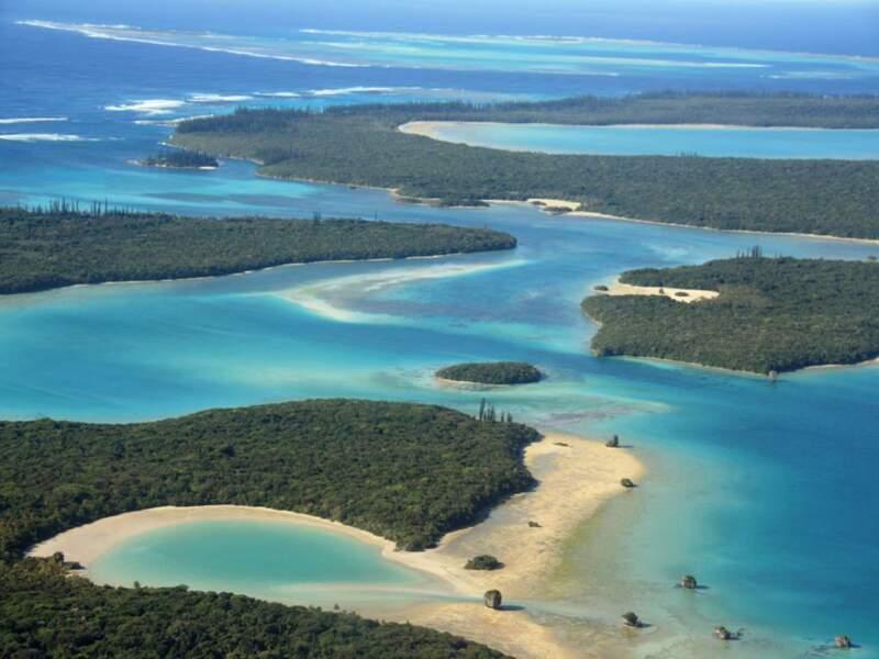 Vue aérienne de l'Ile des Pins, en Nouvelle-Calédonie