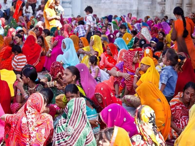 Cérémonie religieuse à Udaipur, dans le Rajasthan, en Inde