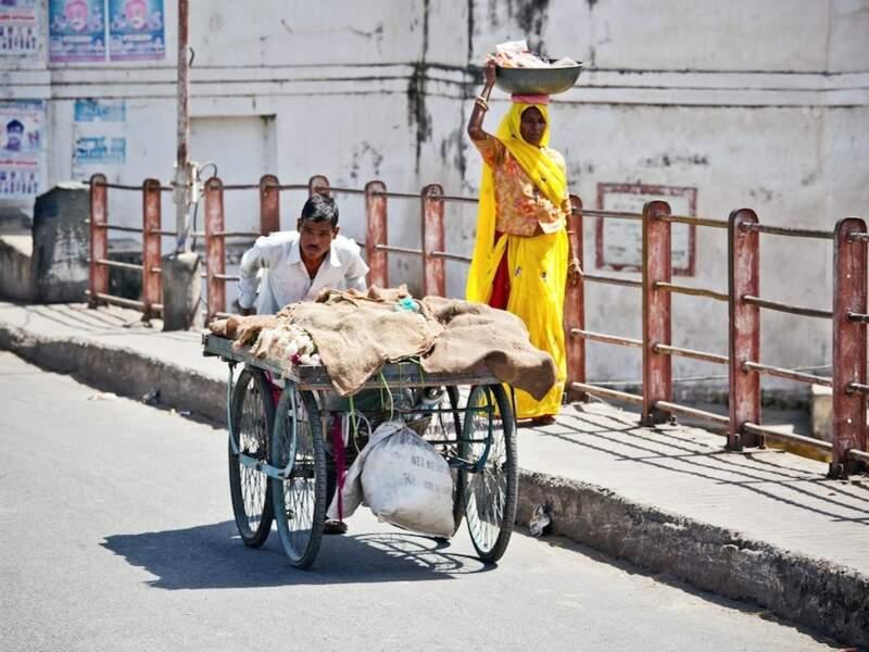 Scène de vie à Udaipur, dans le Rajasthan, en Inde