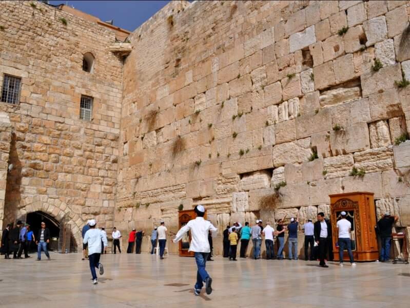 Le mur des Lamentations, à Jérusalem, en Israël.