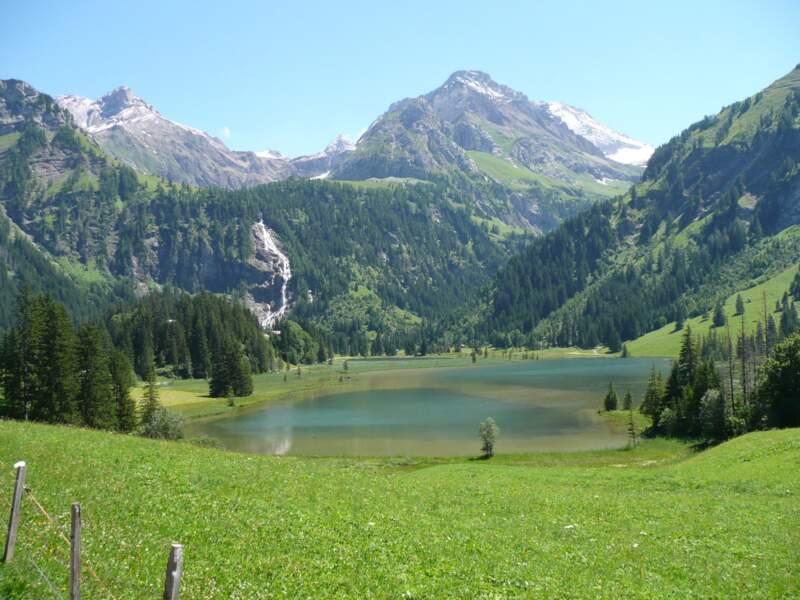 Les lacs de Lauenen, dans l'Oberland bernois, en Suisse.