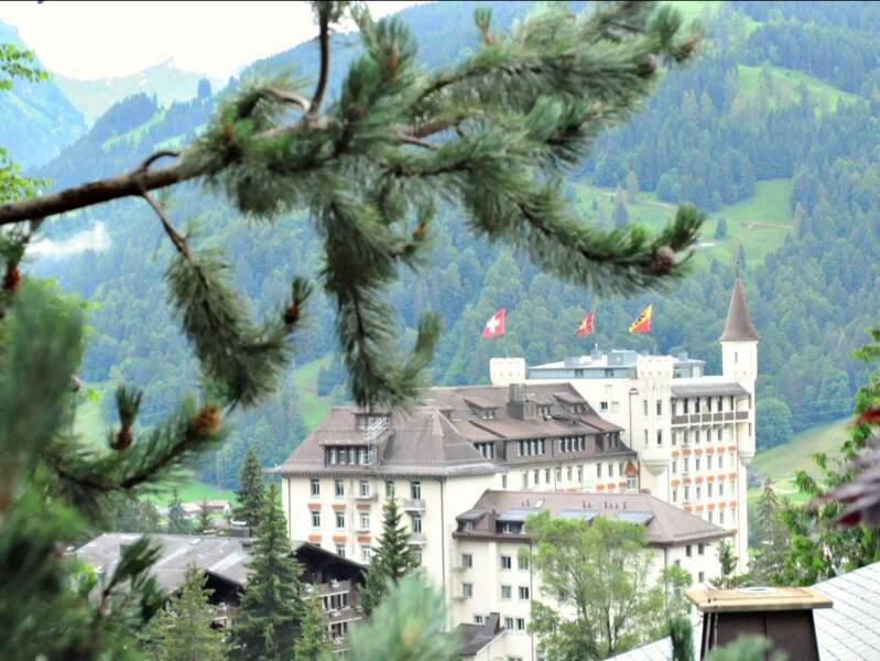 Le palace de Gstaad est un des emblèmes de la région (Oberland bernois, Suisse).