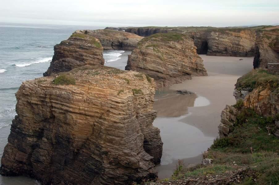 La plage de las Catedrales, en Galice