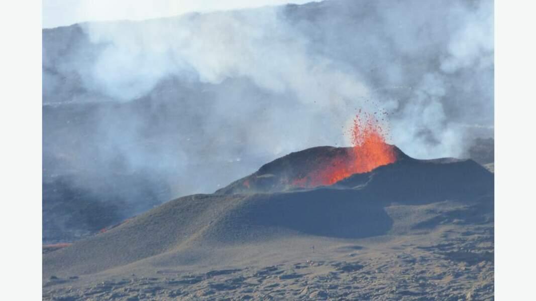 Piton de la Fournaise en éruption