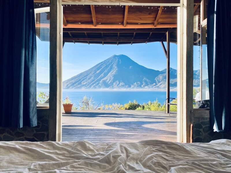 Un lodge avec vue au Guatemala