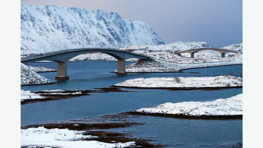 Série de ponts dans les Lofoten