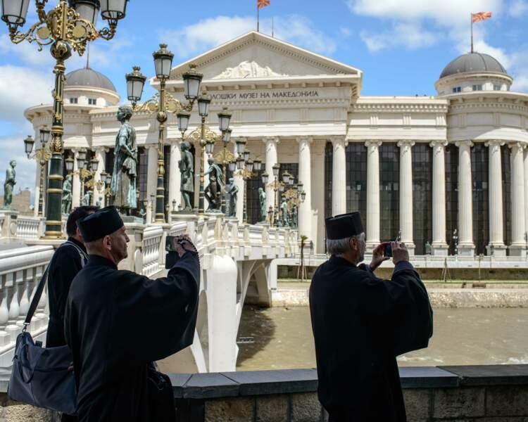 A Skopje, l'empire du kitsch