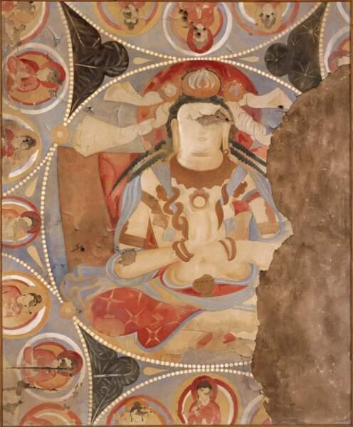Jean Carl, Boddhisattvas de la grotte K, 1935, gouache sur toile