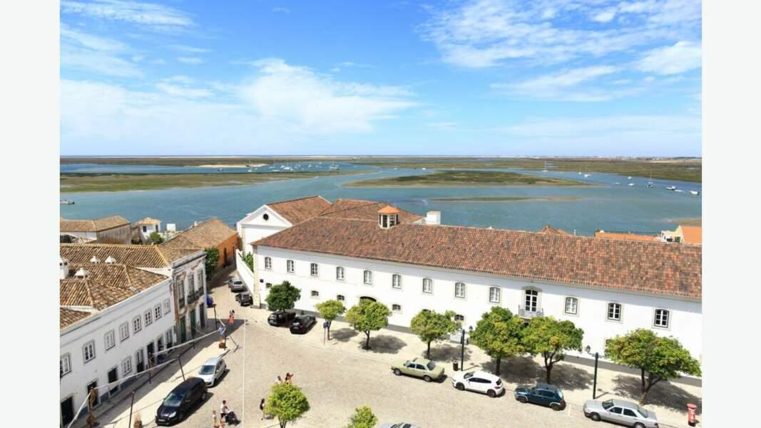 Vue sur Faro et la Ria Formosa