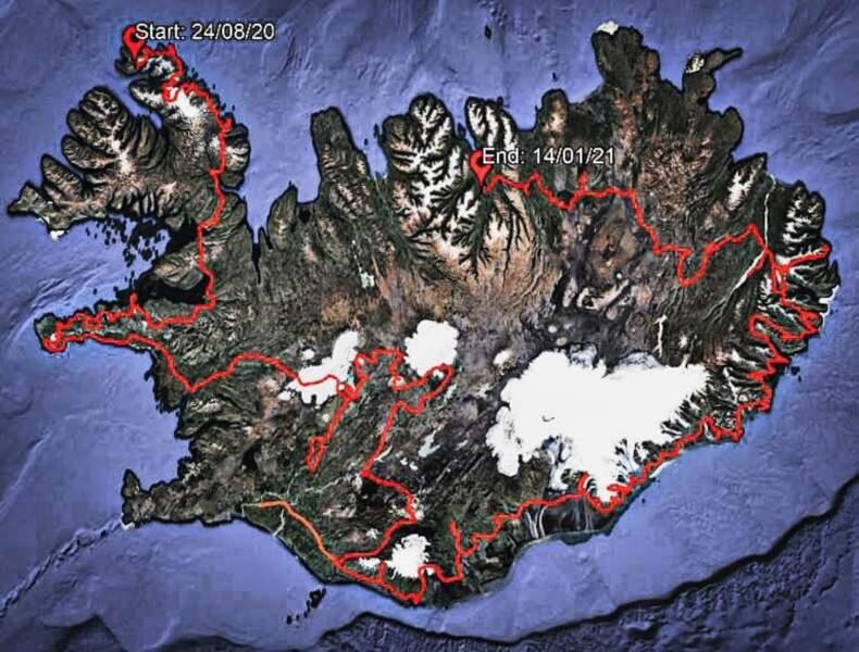 144 jours de marche et 3053 km